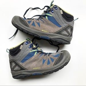 Merrell Gray Blue Ankle Waterproof Hiking Boots